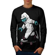 Monster Skate Hombre Manga Larga T-shirt new | wellcoda