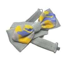 Novita PAPILLON uomo con punte grigio e giallo Mimetico camouflage avantgarde