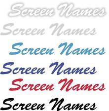 x1 Paire écran Nom autocollants en vinyle plus dans une boutique ebay Brosse