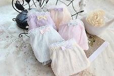 Women Lady Cotton Lace Frilly Trim Undies Panties Briefs Underwear Lingerie