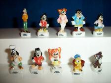 GOOFY GOOF TROOP Set of 10 Mini Figurines FRENCH Porcelain FEVES Figures DISNEY