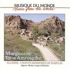 FREE US SHIP. on ANY 2+ CDs! NEW CD Marguerite Taos Amrouche: Algeria: Berber So