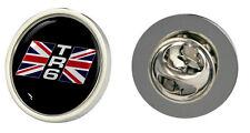 Triumph TR6 Union Jack Logo Clutch Pin Badge Choice of Gold/Silver