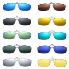 Unisex Metal Rectangle Sunglasses Myopia Glasses Clip-On Polarizing UV400 New