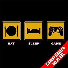 EAT Sleep Game Player PS3 PS4 CONTROLLER Divertente T-shirt giochi 16 colori - a 5XL