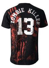 Zombie Killer 13 black death men's t-shirt darkside s - 3xl Zombie, Horreur