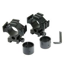 """Scope Ring Laser Flashlight Mount 1"""" 25.4/30mm For Picatinny Weaver Triple Rail"""