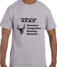 Funny Humor Deer Obsessive Compulsive Hunting Disorder O.C.H.D. T-Shirt tshirt