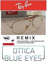 Occhiali RAYBAN SHOOTER RB3138 ORO LENTE TRASPARENTE Eyewear Ray Ban JOHNNY DEPP