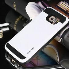 WHITE Slide Case iPhone Samsung Galaxy Credit Card Slot Wallet Hidden Pocket ID