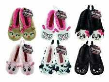 Older Girls Size 4-6 Cozees Co-Zees Super Soft Animal Slipper Socks Gripped Sole