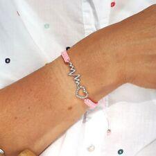 Valentine Love Heartbeat Friendship Bracelet Sea Boho Jewellery FREE Gift UK