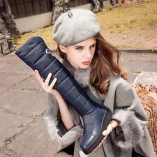 Fashion Ladies Snow Long Boots Women's Winter Warm Down Waterproof Zip-up Shoes