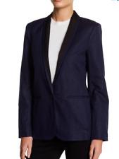 Joie Amit Contrast Collar Blazer DARK NAVY-CAVIAR  Sizes10 and 12  NWT $348