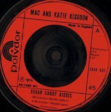 """MAC AND KATIE KISSOON sugar candy kisses 7"""" WS EX/ uk polydor 2058 531"""