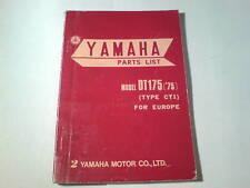Ersatzteilliste / Spare Parts List Yamaha DT 175 / DT175 '75 Stand 1974