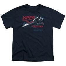 Battlestar Galactica Viper Mark Ii Big Boys Youth Shirt NAVY
