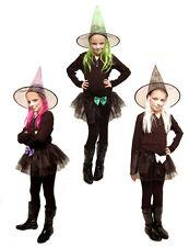 Disfraz de bruja Tutu + Sombrero + Colorido PELO Traje Halloween Carnaval