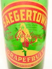 vintage ACL SODA BOTTLE- SAEGERTOWN GRAPEFURIT of SAGERTN- 32 OZ ACL POP BOTTLE