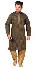 Para Hombre Pijama Kurta Shalwar Kameez Bollywood Sherwani fiesta temática de 2 Piezas Set 1838