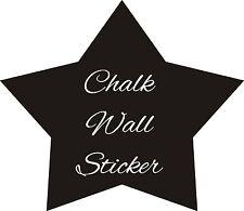 STAR CHALK BOARD VINYL WALL STICKER CHILDRENS HOME BEDROOM DIY