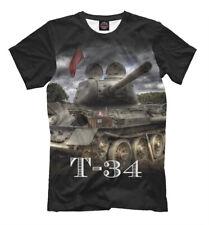 T-34 tank t-shirt - WOT shirt world of tanks soviet union military hardware