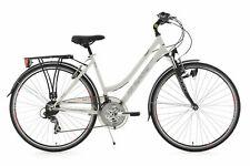 """VTC Femme 21 Vitesses 28"""" Vegas Blanc FL Vélo Neuf KS Cycling M111T"""