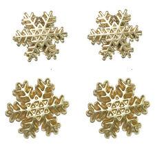 GOLD TONE SNOWFLAKE CHRISTMAS STUD EARRINGS ~ 2 SIZES (H197)