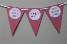 PD1 Personalizado De Cumpleaños 21st 18th 16th Guirnalda Pancarta De Lunares