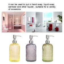 Clear Glass Pump Bottles Refillable Liquid Soap Dispenser For Hand Soap Liquid