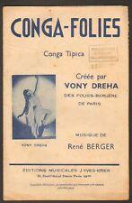 PARTITION MUSIQUE / CONGA-FOLIES / FOLIES-BERGERE