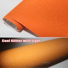 Air Free Car Matte Glitter Shining Diamond Sparkle Vinyl Wrap Sticker Orange AB