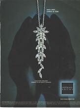 PUBLICITE ADVERTISING 2011   PASQUALE BRUNI joaillerie bijoux