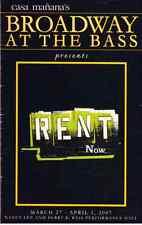 RENT Playbill-Casa Manana's Broadway at the Bass Ft Worth TX  2007 Bennet/Jay