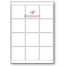 12 Per Page White A4 Self-Adhesive Square Laser Printer Labels Label Planet®
