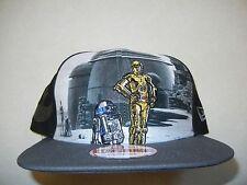RARE STAR WARS NEW ERA 9FIFTY C3PO & R2D2 Jabba Hut SNAPBACK HAT CAP