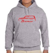 1980-86 Ford Bronco Truck Grey Hoodie Sweatshirt FREE SHIP