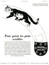"""Publicité Ancienne """" WOOD-MILNE pour Guérir les Pieds Sensibles 1932 """" ( P 21 )"""