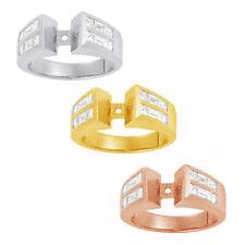 1 3/8 Ct Baguette Cut Genuine Diamond In 14K Gold Semi mount Engagement Ring