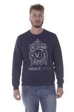 Felpa Versace Jeans Sweatshirt Hoodie % Uomo Blu B7GPA7F0-231
