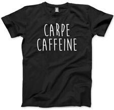 Carpe caffeina Unisex T-Shirt-Fashion Slogan Top