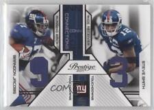 2011 Panini Prestige 18 Brandon Jacobs Steve Smith New York Giants Football Card