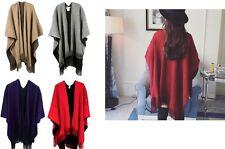 New Fashion Women Lady Warm Wrap Shawl Cape Poncho Big Scarf Knit Tassel