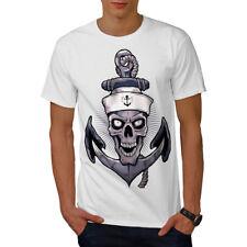 Wellcoda Sailor Horror Angry Skull Mens T-shirt,  Graphic Design Printed Tee