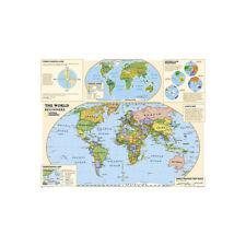 The World Map Prints Large Art Maps Poster Kids Education P12