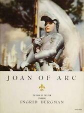 70936 Joan of Arc Movie Ingrid Bergman, Jos? Ferrer Wall Print Poster Affiche