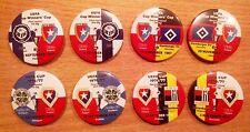 European Cup Match Play-Pins Clubs in Deutschland und der DDR 1955 - 2017 set 11