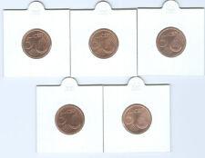 BRD  5 Cent ADFGJ  stempelglanz  (Wählen Sie unter: 2002 - 2018)