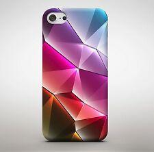 Joyas de diamantes púrpura rosa Pirámide Colorido Formas triángulos Cubierta Estuche Teléfono