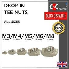 M3 M4 M5 M6 M8 Drop In Tee nut Hammer T-Nut  Aluminum Extrusion Profile UK FAST